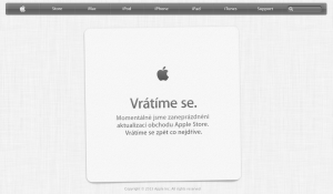Apple Store screen