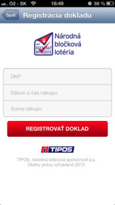 Národná bločková lotéria aplikácia
