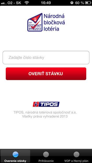 Národná bločková lotéria na iPhone a iPad